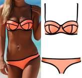 Fashionzone Push up Neoprene Diving Suit Bright Bling Bikini Set Swimsuit Swimwear