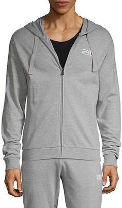 Ea7 Emporio Armani Long-Sleeve Cotton Track Jacket