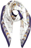 Missoni Optical Print Pure Silk Square Scarf