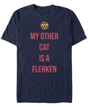 Marvel Men's Captain My Cat is a Flerken, Short Sleeve T-shirt