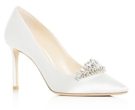 Jimmy Choo Women's Romy 85 Embellished Pointed-Toe Pumps