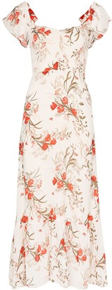 Reformation Butterfly floral-print maxi dress