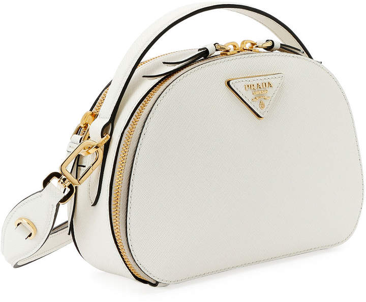 8707339d8d4e Prada White Saffiano Leather Handbags - ShopStyle