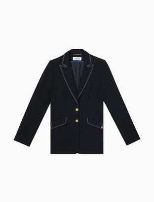 Calvin Klein Lux One-Button Stitched Jacket