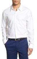 James Perse Men's Trim Fit Flannel Dress Shirt