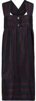 MAISON KITSUNÉ Betty striped matte-taffeta dress