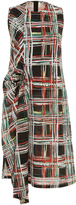 Marni Scribble Plaid Dress