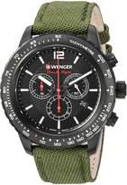 Wenger Men's 01.0853.110 Roadster Analog Display Swiss Quartz Green Watch
