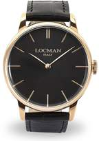 Locman Men's 41mm Leather Band Steel Case Quartz Watch 0251v09-Rgbkrgpk
