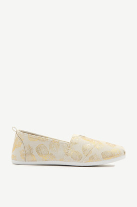 Ardene Canvas Slip-On Pineapple Sneakers
