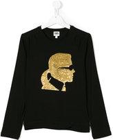 Karl Lagerfeld graphic sweatshirt - kids - Cotton/Spandex/Elastane - 16 yrs