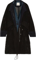 3.1 Phillip Lim Oversized satin-trimmed broderie anglaise cotton parka