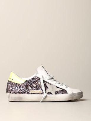 Golden Goose Sneakers In Leather And