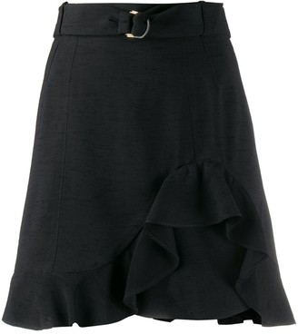 Sandro Paris Amy ruffled mini skirt