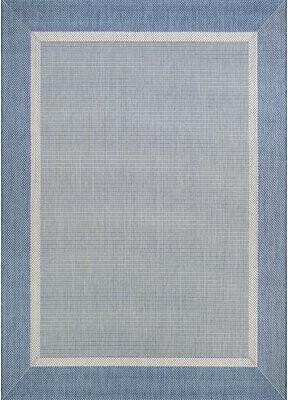 "Beachcrest Home Saffold Texture Blue/Gray Area Rug Rug Size: Rectangle 2' x 3'7"""