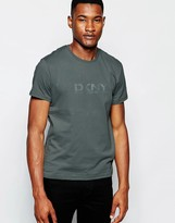 Dkny Crew T-shirt Rubber Chest Print - Grey