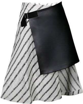 Mirimalist Wrap Striped Skirt