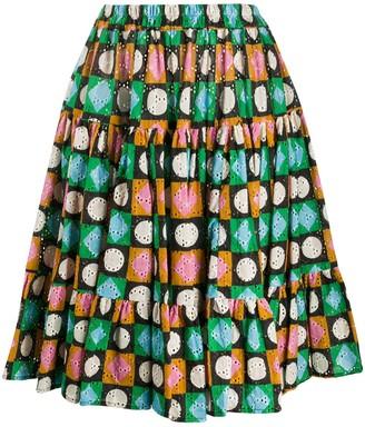 La DoubleJ Lucky Charms print tiered skirt