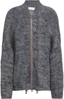 Brunello Cucinelli Metallic Linen-blend Cardigan