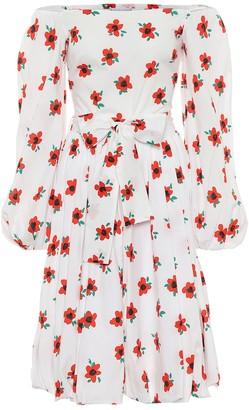 Caroline Constas Bea floral cotton midi dress