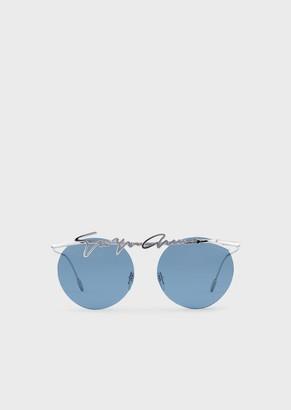 Giorgio Armani Rimless Round Woman Sunglasses