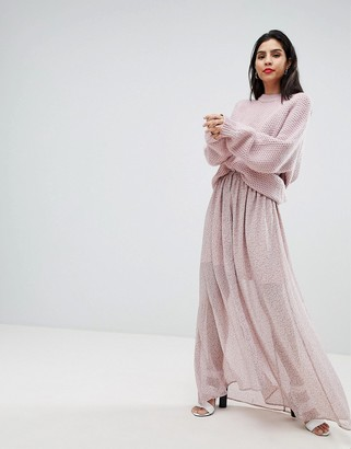 French Connection Sheer Floral Maxi Skirt