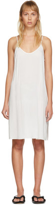 Raquel Allegra White Simple Slip Dress