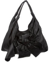 Valentino Bow-Accented Leather Hobo