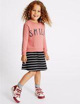 Marks and Spencer 2 Piece Cotton Rich Sweatshirt & Dress