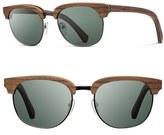 Shwood Men's 'Eugene' 54Mm Polarized Sunglasses - Walnut/ Silverwire