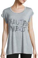 Haute Hippie Heathered Graphic Front T-Shirt