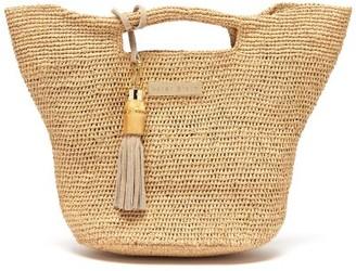Heidi Klein Grace Bay Super Mini Raffia Bucket Bag - Beige