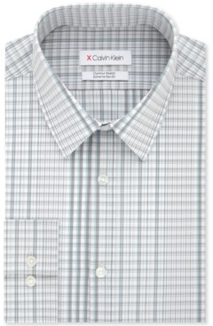 Calvin Klein Men's Extra-Slim Fit Water Print Dress Shirt