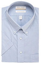 Roundtree & Yorke Gold Label Big & Tall Non-Iron Solid Regular Full-Fit Short-Sleeve Button-Down Collar Dress Shirt
