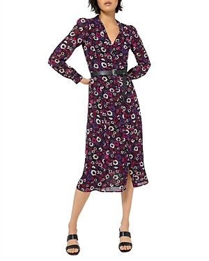 MICHAEL Michael Kors Floral Midi Shirt Dress
