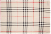 Burberry Beige Giant Check Scarf