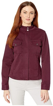 Liverpool Denim Zip Jacket (Cocoa Burgundy) Women's Coat