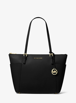 MICHAEL Michael Kors MK Jet Set Large Saffiano Leather Top-Zip Tote Bag - Acorn - Michael Kors