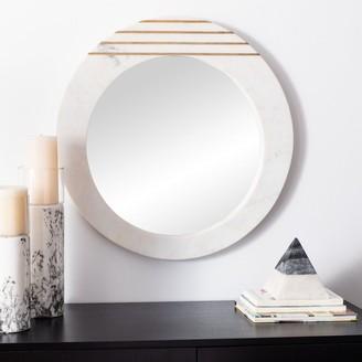"""Safavieh Kenley 23-inch Modern White Round Mirror - 22.5"""" W x 1"""" L x 22.5"""" H"""