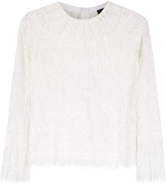 Andrea Bogosian lace long sleeved top