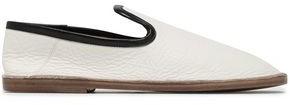 Joseph Textured-leather Slippers