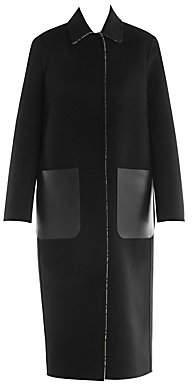 Fendi Women's FF Logo Reversible Wool Coat