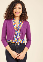 ModCloth The Dream of the Crop Cardigan in Violet in XS