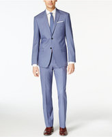 DKNY Light Blue Solid Extra Slim-Fit Suit