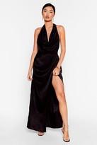 Nasty Gal Womens Cowling All Stars Jacquard Maxi Dress - black - 4