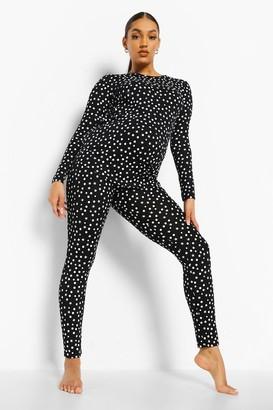 boohoo Maternity Polka Dot Pyjama Set