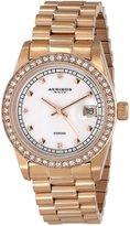 Akribos XXIV Men's AK488RG Diamond Quartz Rose-Tone Stainless Steel Bracelet Watch