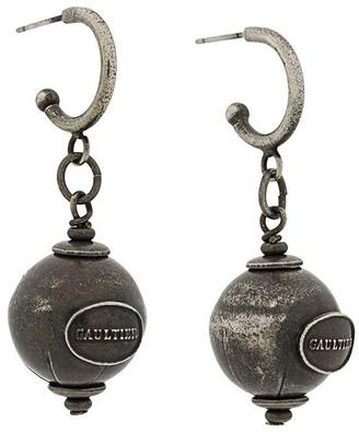 Jean Paul Gaultier Pre Owned Logo Sphere Earrings