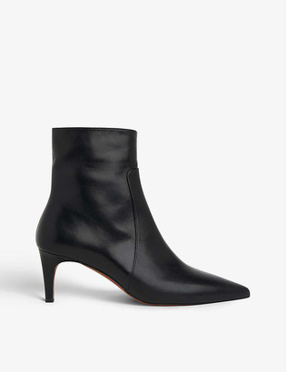 Whistles Celia leather kitten-heel ankle boots