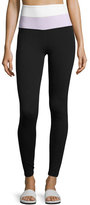 Beyond Yoga x kate spade new york blocked high-waist leggings, black/lilac/white